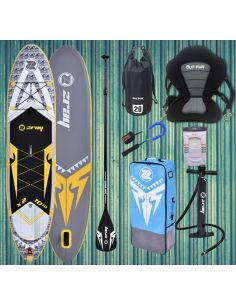 """Pack """"STARTER+"""" Stand Up Paddle ZRay X-Rider X2 Deluxe 10' 10'' avec siège"""