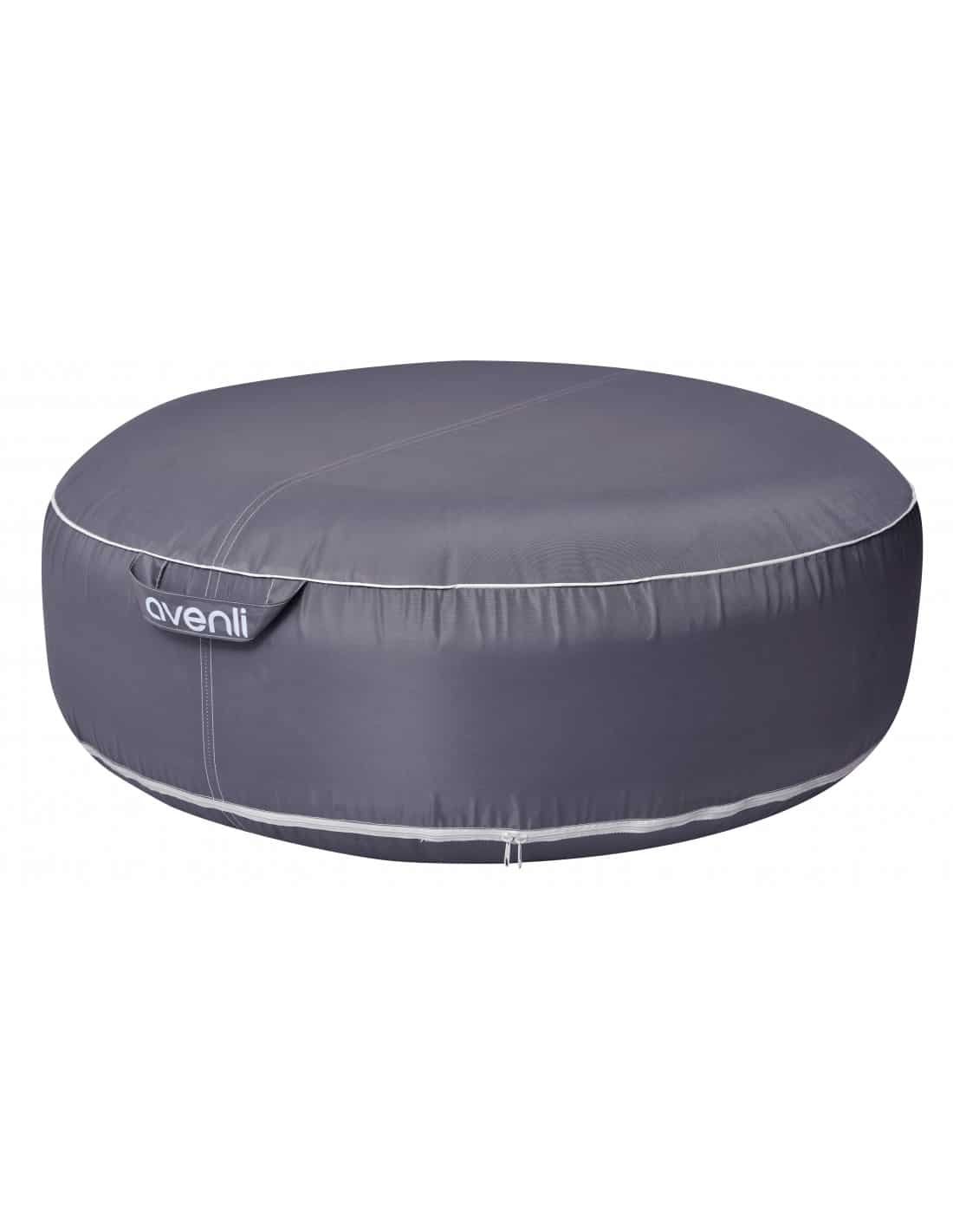 Pouf gonflable jaune rond 98 x 38 cm avenli - Matelas gonflable rond ...