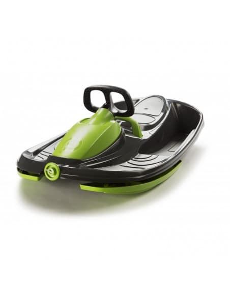 Stratos Luge verte 2 places avec volant et frein