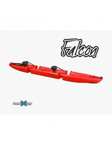 Kayak modulable FALCON Duo (seat on top 2 places) - Rouge