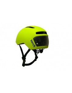 TORCH urban bike helmet with integrated front and rear LEDs