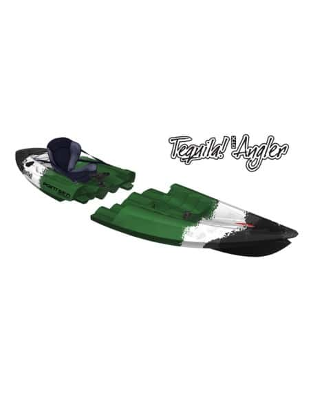 TEQUILA GTX Angler solo (seat on top 1 place) - Kayak modulable spécial pêche - vert camo