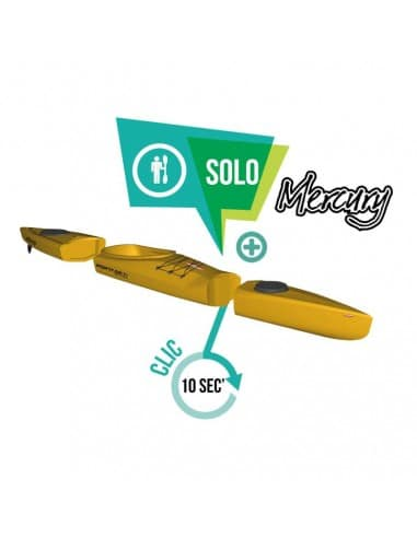 Kayak modulable - Mercury GTX solo (seat in 1 place) - jaune