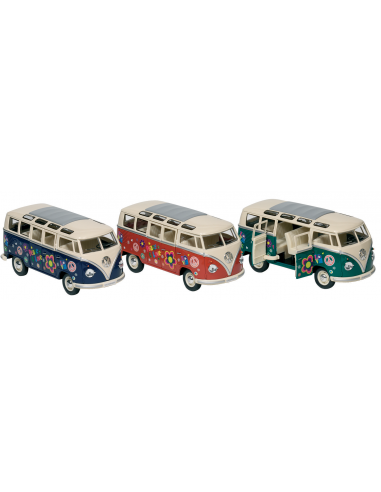 "Bus Volkswagen T1 (1962) ""Peace & love"" 1:24 (17,8 cm)"